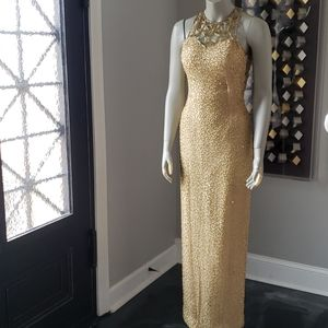 Scala Vintage Beaded Sequined Silk Dress
